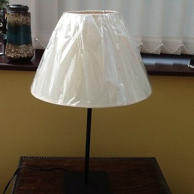 Ikea hemma black steel table lamp base with white shade
