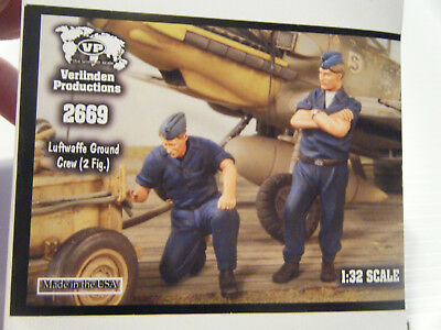"2657 2 Figs. Verlinden 1//32 Jagdflieger 3 /""Coffee Time/"" German Fighter Pilots"