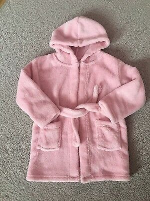 12-18 Months Baby Girl Fleece Dressing Gown Pink