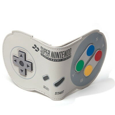 NEW OFFICIAL Nintendo SNES Controller Shaped Classic Retro Boys Mens Wallet