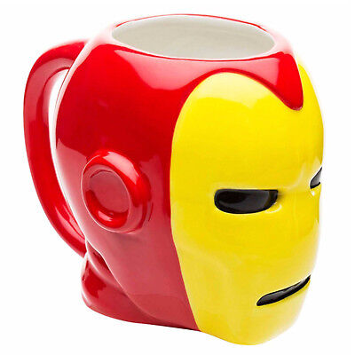 NEW OFFICIAL Marvel Comics Iron Man Classic Retro 3D Novelty Coffee Tea Mug