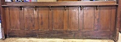 2 x Large Antique Solid Church Pew Front ideal for Bed Frame Bench or Headboard