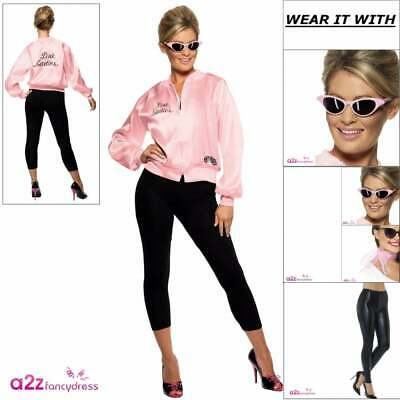 Grease Pink Ladies Adult Womens 50s Fancy Dress Costume