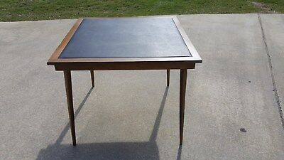 Vintage Unique FOLDING CARD TABLE Wooden Wood Mid Century Modern 50s