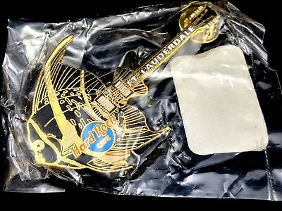 Hard Rock Cafe Pin HRC Fish Guitar Fort Lauderdale Original Pouch Never Opened