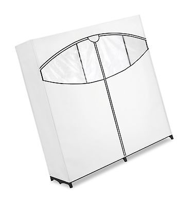 Whitmor Extra Wide Clothes Closet   Freestanding Garment Organizer With  White.