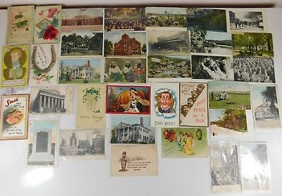 Lot of 35 Antique Vintage Postcards Early 1900's - 1940's Used with Stamps 🔥🔥