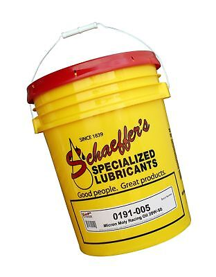 Schaeffer Manufacturing 0191-005 Micron Moly Racing Oil, 20W-50, 5 gal Pail