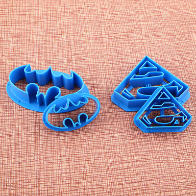 4pcs Batman Cake Cookies Biscuit Cutter Pastry Mould Decorating Icing Mold DIY