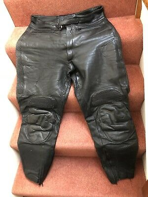 motorcycle leather jacket and trousers