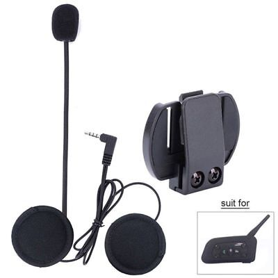 Wired Headset Mic/Speaker+Clip for V4/V6 Motorcycle Bluetooth Helmet Intercom LK