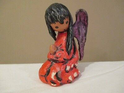 "Goebel DeGrazia A CHRISTMAS PRAYER Angel Figurine 4"" 1986 Signed"
