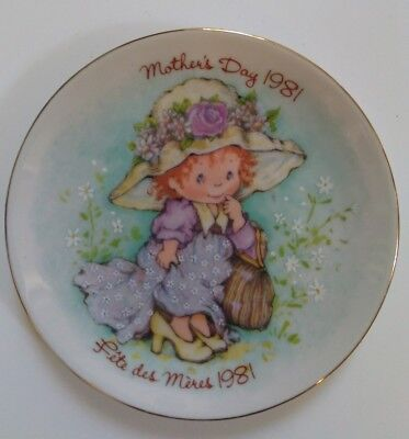 AVON Mothers Day Plate 1981 Cherished Moments 22K Gold Trim Porcelain bilingual