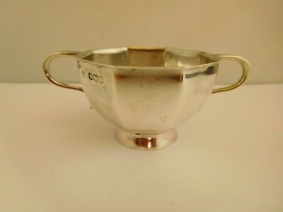 Good Quality Small Art Deco  English Sterling Silver 2 Handled Bowl