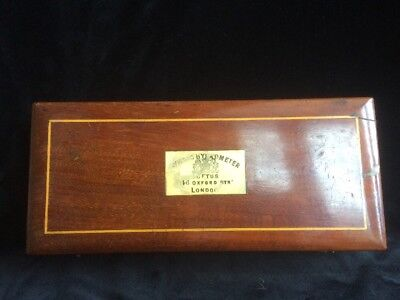 Victorian mahogany cased SYKE'S HYDROMETER LOFTUS 146 OXFORD St LONDON