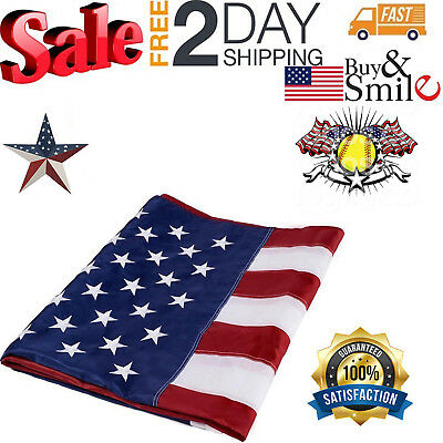 US American Flag Heavy Duty 3x5 ft Printed Stars and Stripes Brass Grommets NEW