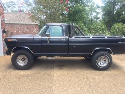 1972 Ford F-250  Black 2WD 1972 Ford Ranger XLT (F-250); Automatic; LWB; BUMP