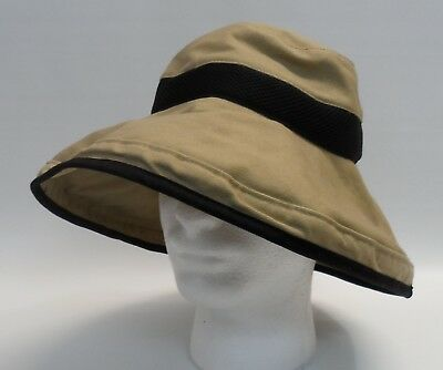 f7f478ac91941 Orvis Broad Wide Brim Vented Boonie Hat Safari Outdoors Sun Beige Cotton  OSFA