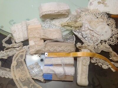 vintage lace lot trims purses sewing dolls Blythe Puki art journals
