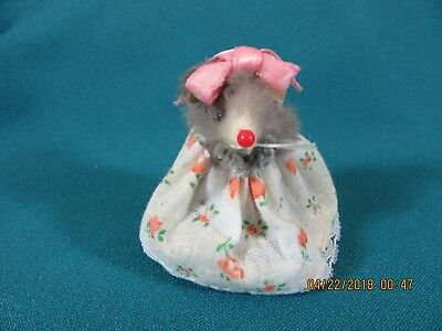 5M. Vintage Mice Mouse Ornament Toy Made in West Germany Original Fur Animals