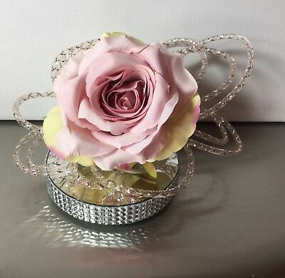 Pretty Vintage Style Pink Rose Fascinator Fixed on a clip. Races. Wedding