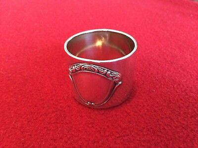 Antique French Solid Sterling Silver Napkin Ring Space for Monogram
