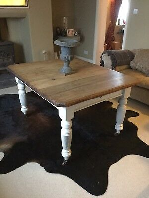 Antique Pine Farmhouse Kitchen Table