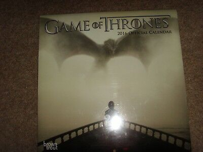 Daenerys Tyrion - Game of Thrones 2016 Calendar - New - Brown Trout