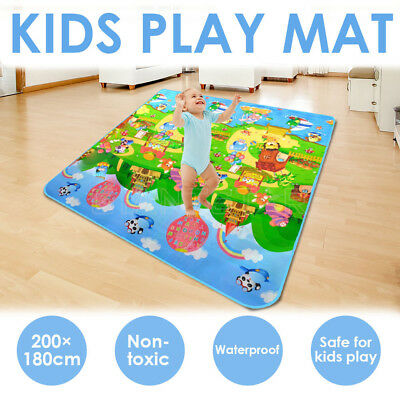 2mx1.8m Baby Kids Play Mat Floor Rug Picnic Cushion Crawling Mat Travel Camping