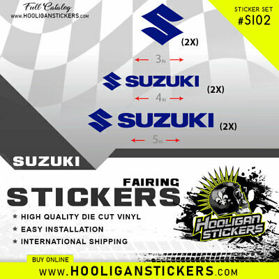 Suzuki decals sticker 2X big + 2X Small + 2 medium More than 10 colors available