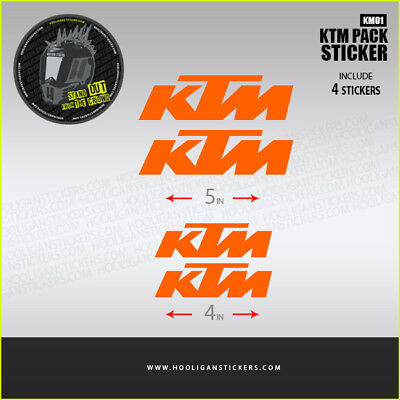 KTM decals sticker 2X big + 2X Small More than 10 colors available