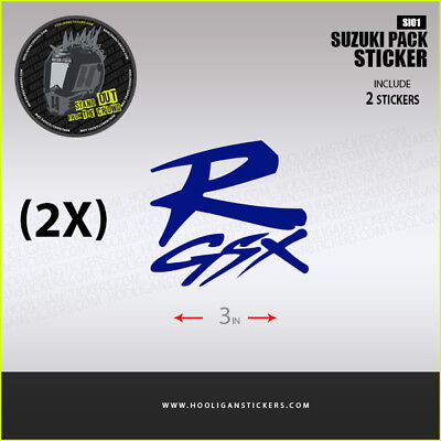 2X GSX-R decals sticker More than 10 colors available