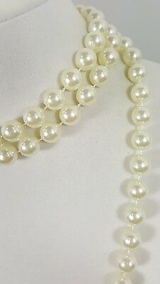 Stunning Vintage Estate Necklace Cream/Beige Faux Pearls Classy Wedding #5024