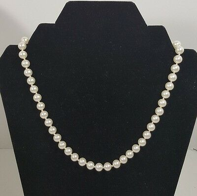 Stunning Vintage Estate Necklace/Choker White Faux Pearls Classy Wedding #4982