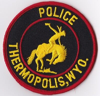 Thermopolis Wyoming WY Police Patch NEW!!