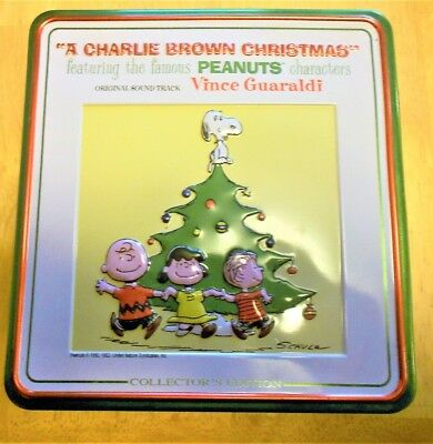 Peanuts Snoopy And Charlie Brown Christmas 3 CD Collector's Edition Tin