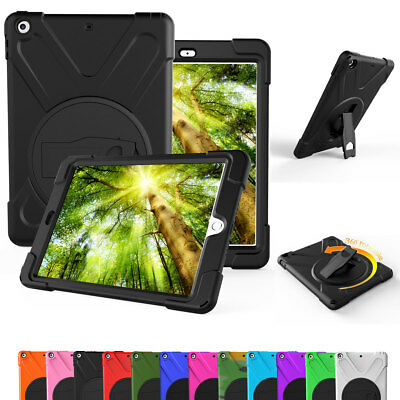 Rugged Armor Hard Case For iPad 9.7 2018 6th Gen / 5th Gen with Screen Protector