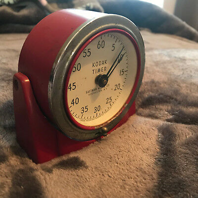 Vintage Eastman Kodak Red Art Deco Style Darkroom Timer Photography WORKS 8239