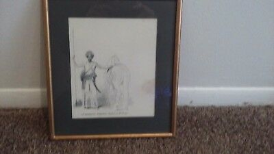 A Mahratta Horseman, Sketched in the Camp Framed Print