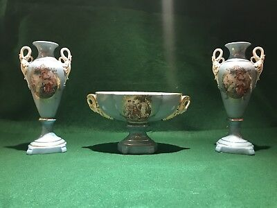 Pair of Antique Sevres style Porcelain Urns