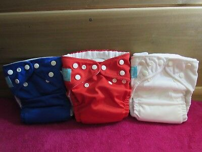 New Charlie Banana One Size Cloth Pocket Diaper Lot of 3 With Med/Large Insert 3