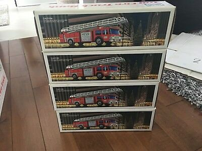 Hess Gasoline Toy Fire Truck Bank With Original Box! 1986  4pc