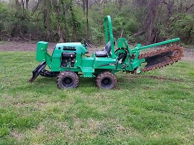 2013 Vermeer RT450 Ride-On Trencher 4WD Hydraulic Dozer Backfill Blade Low Hours