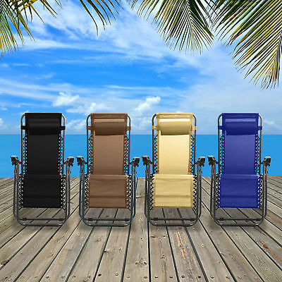 Four SEASONS Heavy Duty Zero Gravity Chair Recliner Round Legs Support 330  LBS