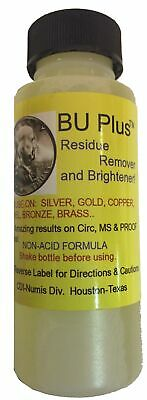 BU Plus Coin Residue Remover & Brightener 2 oz Strong Rinse Silver Gold Bronze