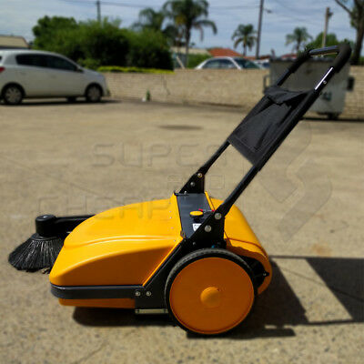 INDUSTRIAL FLOOR Walk behind SWEEPER HEAVY DUTY 30L WET DRY Fine Sand 3680SQM/H