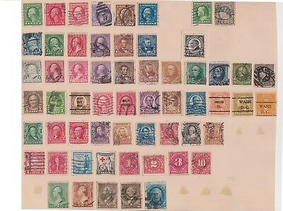 (K76-10) 1875-1930 USA 59 stamps value to 30c (J)