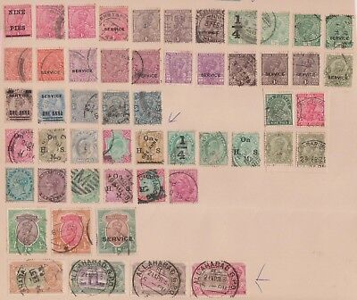 (K76-6) 1882-1931 India 52 stamps value to 2R (F)