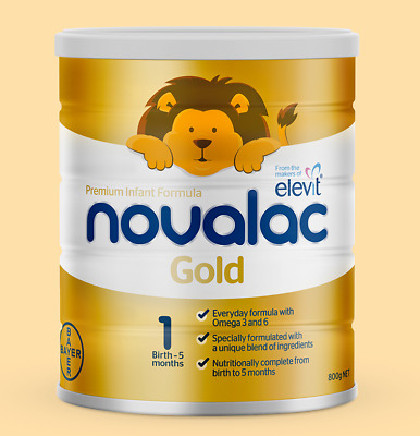 Novalac Gold Stage 1 800G Birth-5 Months Premium Infant Formula New Packaging