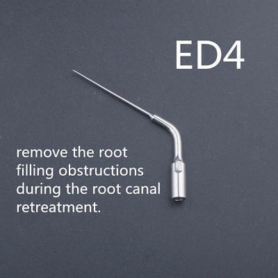 1x Dental Ultrasonic Scaler Scaling Endo Perio Tip ED4 Fit DTE SATELEC Handpiece